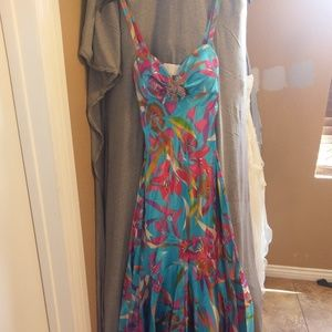 Cache Colorful Formal Gown, Size 4